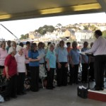 sun shone on choir - 23 jul 14